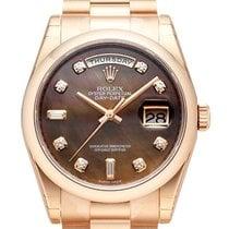Rolex Day-Date 36 18 kt Everose-Gold 118205 Perlmutt DIA