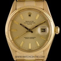 Rolex Vintage Gold Oyster Perpetual Champagne Dial Date...