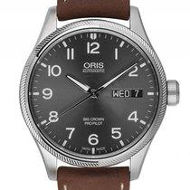 Oris Big Crown ProPilot Day Date Stahl Automatik Armband Leder...