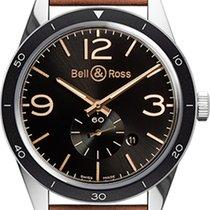 Bell & Ross Men's BRV123-GH-ST/SCA Vintage Golgen...