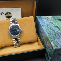 Rolex DATEJUST 16014 SS Original Glossy Blue Roman Dial with...