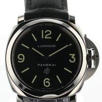 Panerai Luminor Base Logo Acciaio 44mm Black Leather Watch...