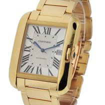Cartier W5310018 Tank Anglaise Large Model - Yellow Gold on...