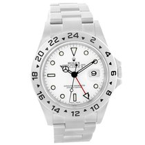 Rolex Explorer Ii White Dial 40mm Stainless Steel Mens Watch...