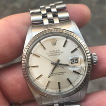 Rolex Datejust (date) Acciaio Plexy 1601 oro gold 36 mm