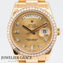 Rolex Day-Date Roségold Diamonds Aftermarket 36mm LC100...
