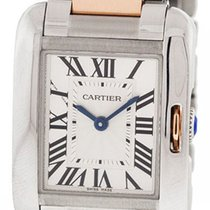 Cartier Tank Anglaise Small 18k Pink Gold & Steel Links...