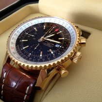 Breitling Navitimer World Black Dial Yellow Gold 18 krt (46 mm)