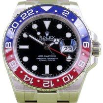 Rolex GMT Master II 116719BLRO 116719 18k White Gold Pepsi Red...