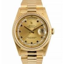 Ρολεξ (Rolex) Rolex 18k Day-Date, Diamond/Sapphire String Dial...