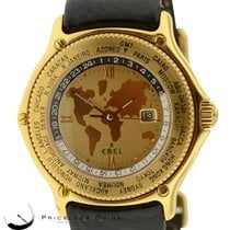 Ebel Voyager World Time  8124913 Solid 18k Yellow Gold Mens...