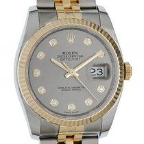 Rolex Datejust Stahl Gelbgold Diamond Automatik Jubilé Armband...