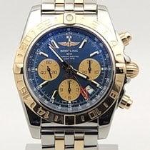 Breitling Chronomat 44 Gmt Cb042012|c858|375c Blue Dial Extra...