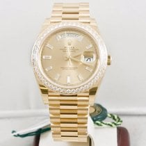 Rolex 40mm Day Date Watch 228348 Rolex Diamond Dial & Bezel