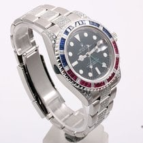 Rolex 116710 GMT-MASTER II - with Diamonds- Ruby / Sapphire Bezel