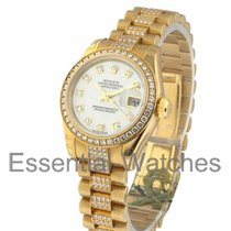Rolex Unworn 179138 Ladies Yellow Gold President with Diamond...