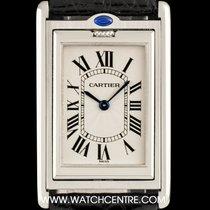 Cartier S/Steel Silver Roman Dial Tank Basculante Gents Watch