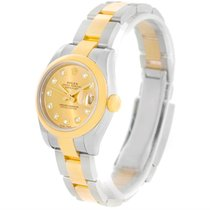 Rolex Datejust Ladies Steel 18k Yellow Gold Watch 179163