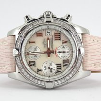 Breitling Galactic chronograph MOP dial and factory diamond bezel