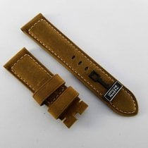 Panerai 24 /22mm assolutamente  beige brown leather strap NEW