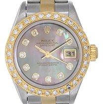 Rolex Ladies Rolex Datejust Watch Custom Mother of Pearl...
