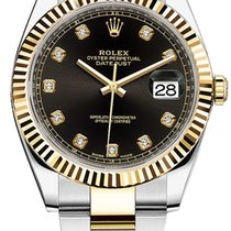 Rolex Datejust 41mm Steel and Yellow Gold 126333 Black Diamond...