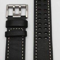 Luminox Field Serie Lederband schwarz Doppelloch 23mm