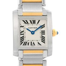 Cartier Tank Francaise Steel Yellow Gold Quartz Ladies Watch...