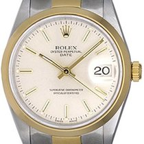 Rolex Date Men's Watch 15203 Silver dial