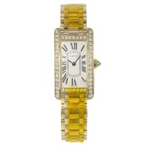 Cartier ank Americaine WB7072K2 18K Yellow Gold Quartz Ladies...
