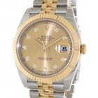 Rolex Datejust 126333 In Gold An Steel With Diamond, 41mm