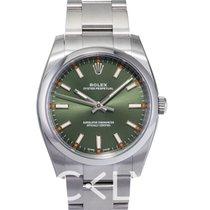 Rolex Perpetual 34 Olive Green/Steel 34mm - 114200