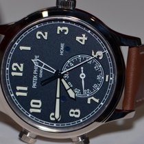 Patek Philippe Calatrava Pilots Travel Time 18K Solid White...