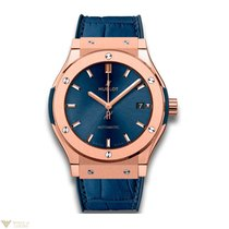 Hublot Classic Fusion Automatic 18K Blue King Gold Leather...