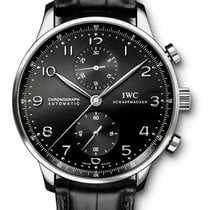 IWC Portuguese Chronograph Automatic Black Dial  IW371447 Watch