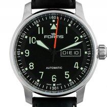 Fortis Flieger Professional Stahl Automatik Armband Leder 41mm...