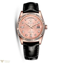 Rolex Oyster Perpetual Day-Date 18K Everose Gold Unisex Watch