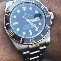 Rolex Submariner 40mm Black Ceramic Yellow Gold Steel 116613LN