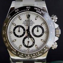 Rolex Daytona  Steel Ceramic Bezel, White Dial Full Set 40MM