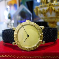 Tiffany & Co 18k Yellow Gold Atlas Roman Numeral Quartz...