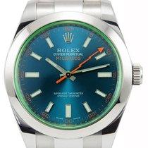 Rolex Milgauss Z-Blue Dial Lightning Bolt Hands Oyster Links...