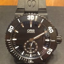 Oris Aquis Titan small second hand Titanium