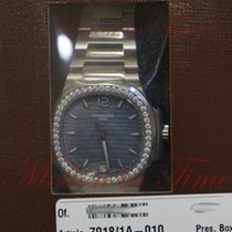 Patek Philippe Nautilus Ladies Automatic, Blue Tinted Mother...