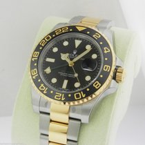 Rolex 116713 GMT Master II Steel & Gold Black Dial...