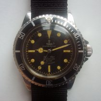 Tudor Submariner Gilt Dial Chapter Ring Pointed Crown Guard