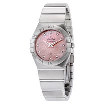 Omega Constellation Pink MOP Diamond Dial Ladies Watch...