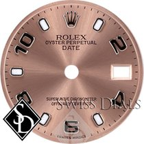 Rolex Date Pink Luminous Index Hour Markers and Arabic...