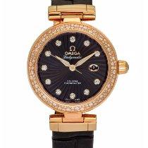 Omega De Ville 18k Rose Gold Ladymatic Co Axial 34mm Diamond...
