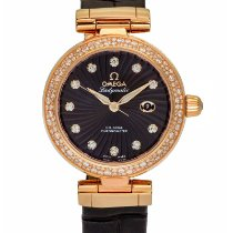 Omega De Ville 18k Rose Gold Ladymatic Co Axial 34mm Diamond...