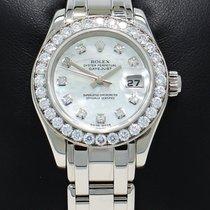 롤렉스 (Rolex) Masterpiece Pearlmaster 80299 18k W Gold Fact...